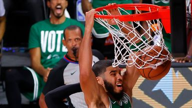 Tatum rocks the rim with HUGE dunk!