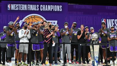 Lakers crowned Western Conference champions