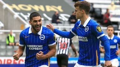 HT Newcastle 0-2 Brighton