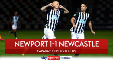 Newport 1-1 Newcastle (4-5 Pens)