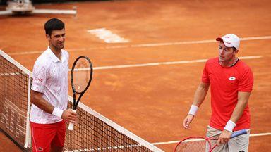 Djokovic taken to three sets by Koepfer