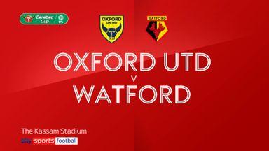 Oxford 1-1 Watford (0-3 Pens)