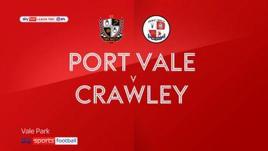 Port Vale 2-0 Crawley