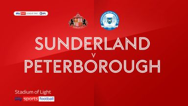 Sunderland 1-0 Peterborough