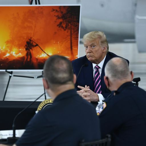 Trump tells fire-ravaged state 'It'll get cooler'