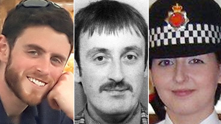 Andrew Harper, Keith Blakelock and Nicola Hughes