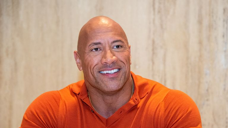 "CABO SAN LUCAS, MEXICO - NOVEMBER 23: Dwayne Johnson at the ""Jumanji: Next Level"" Press Conference at the Montage Los Cabos on November 23, 2019 in Cabo San Lucas, Mexico. (Photo by Vera Anderson/WireImage)"