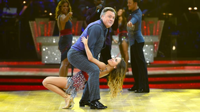Ed Balls and Katya Jones during a photocall for the launch of Strictly Come Dancing Live Tour held at Barclaycard Arena in Birmingham.