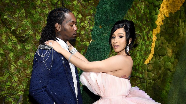 NEW YORK, NEW YORK - SEPTEMBER 12: Offset (L) and Cardi B attend Rihanna's 5th Annual Diamond Ball Benefitting The Clara Lionel Foundation at Cipriani Wall Street on September 12, 2019 in New York City. (Photo by Dimitrios Kambouris/Getty Images for Diamond Ball)