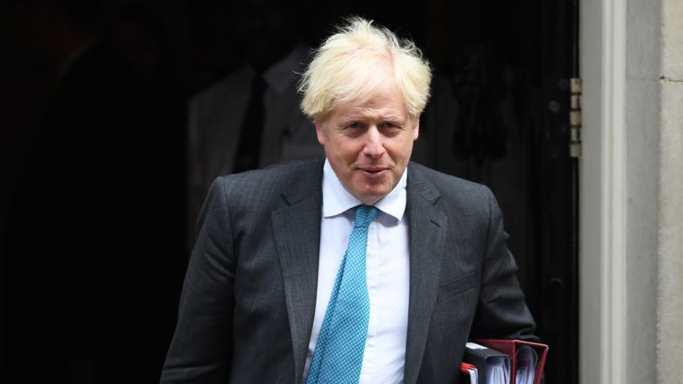 Prime Minister Boris Johnson departs 10 Downing Street, Westminster, London, to attend Prime Minister's Questions at the Houses of Parliament.
