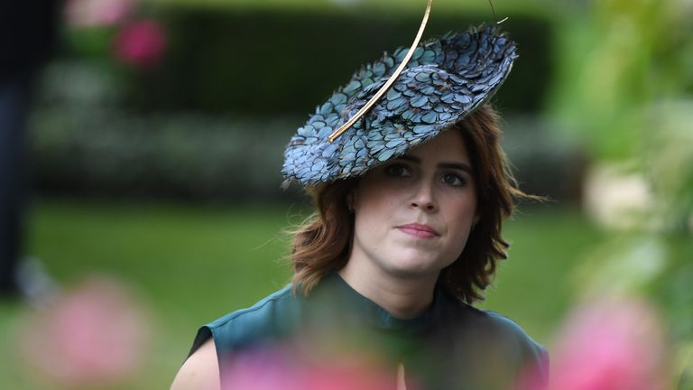 ASCOT,  UNITED KINGDOM - JUNE 20:  Princess Eugenie attends Ladies Day at Royal Ascot on June 20, 2019 in Ascot, England. (Photo by Anwar Hussein/WireImage)