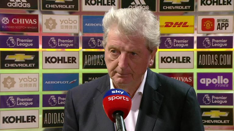 Roy Hodgson heaped praise on match-winner Wilfried Zaha after his two goals consigned Manchester United to a 3-1 defeat to Crystal Palace