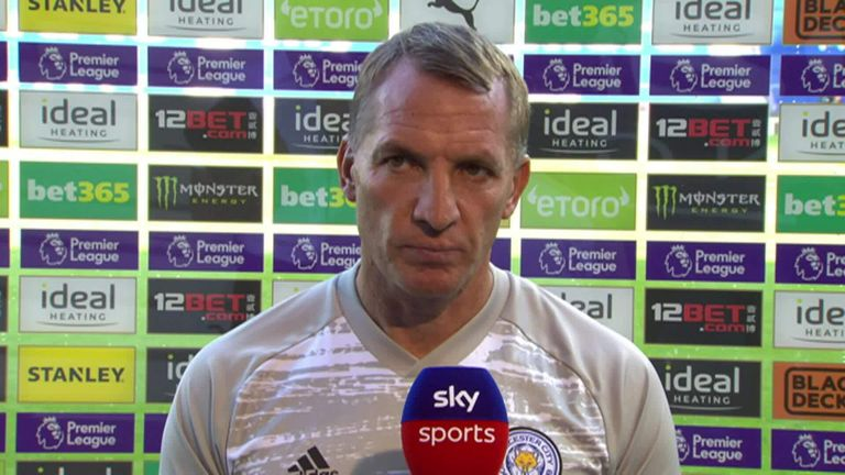 Brendan Rodgers speaks to Sky Sports following Leicester's win over West Brom