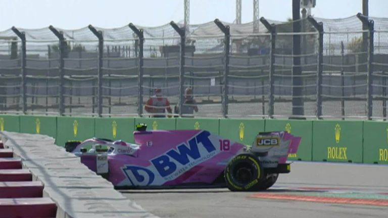 Lance Stroll and Carlos Sainz react to early Russian GP crashes - AAJ KI  TAZA KHABAR