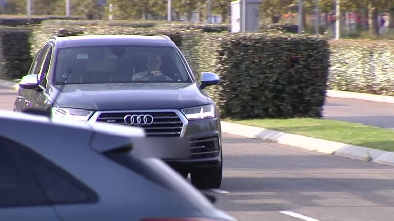 Bale arrived at Real's training ground on Thursday ahead of his proposed loan move to Tottenham