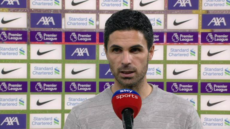 Arsenal boss Mikel Arteta admits Liverpool dominated 'every aspect of the game' after watching his side suffer a 3-1 defeat at Anfield