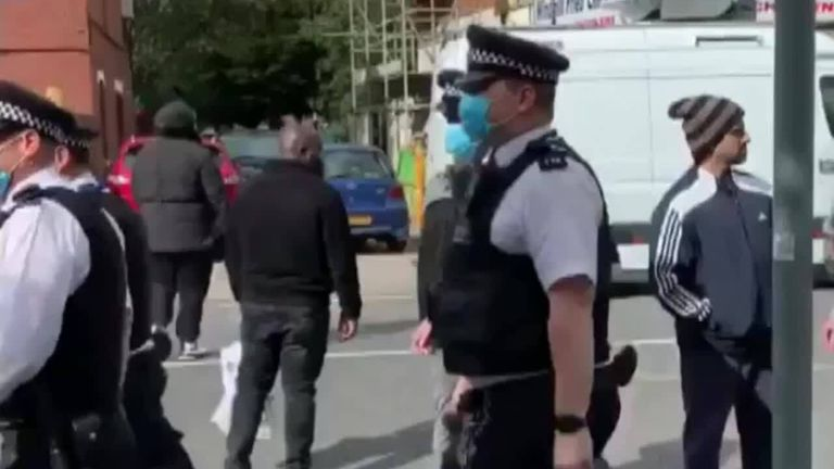 Police line up in Croydon to pay respects to a colleague who was shot dead while on duty.