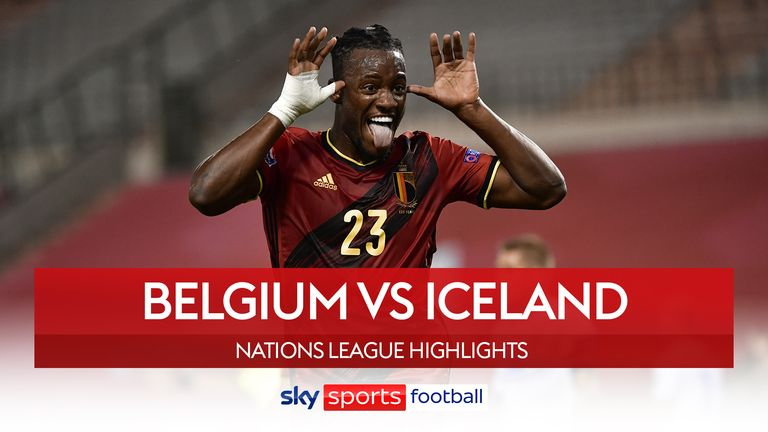 Highlights of the UEFA Nations League A2 game between Belgium and Iceland