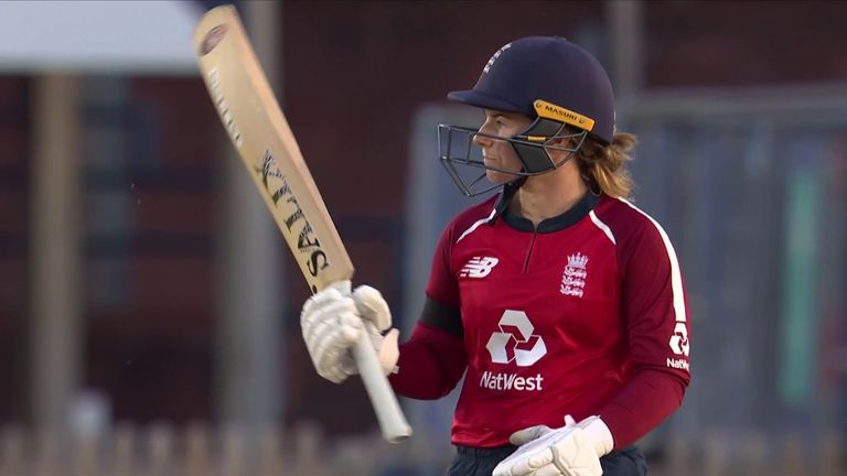 Watch the best of Beaumont's seventh T20I fifty