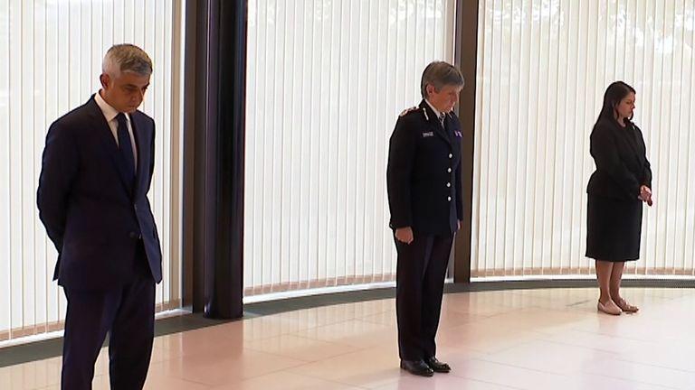 Minute silence held for fallen officer