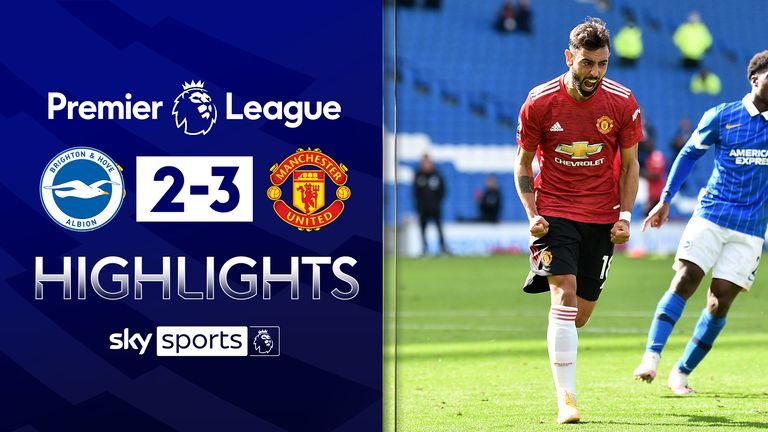 FREE TO WATCH: Highlights from Manchester United's win against Brighton