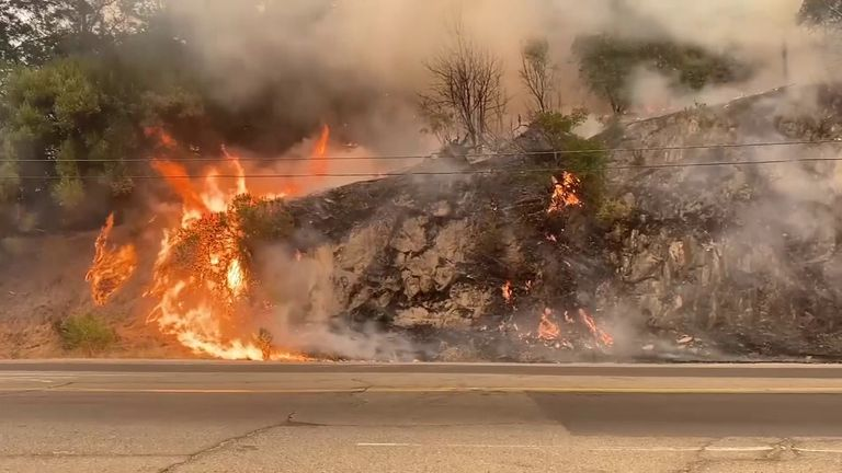 Fire crews continue to battle flames in northern California.