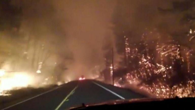 Flaming highway