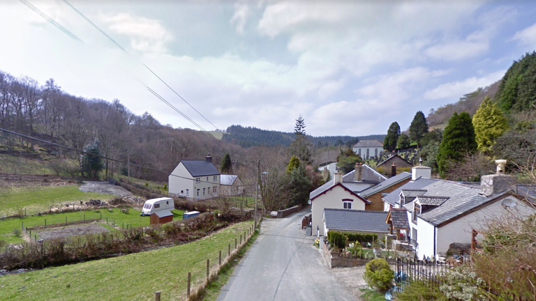The village of Aberhosan had an 18-month long broadband issue. Pic: Google