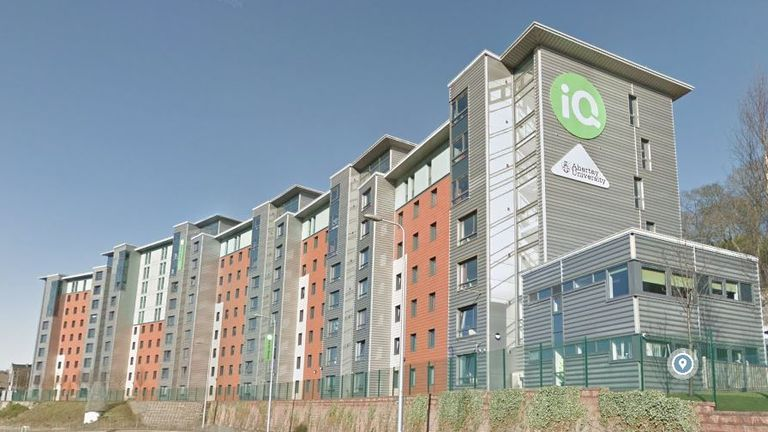 Parker House, a student halls at Abertay University, where 500 students have been told to isolate after a possible coronavirus outbreak. Pic: Google Maps