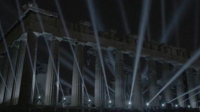 Acropolis gets new LED light installation