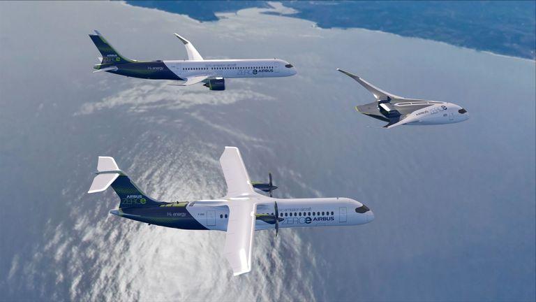 ZEROe concept aircraft - Patrol Flight. Pic: Airbus