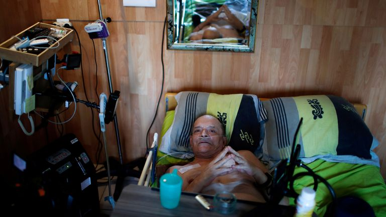 The 57-year-old has been confined to his medical bed for years