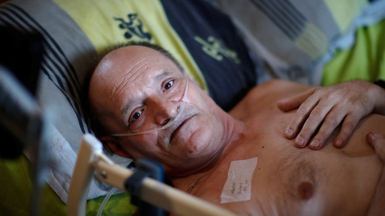 Alain Cocq has been suffering with a degenerative disease for 34 years