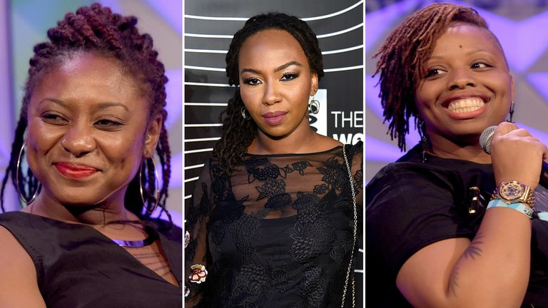 (L to R) Alicia Garza, Opal Tometi and Patrisse Cullors