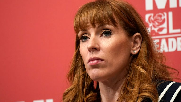 Labour's deputy leader Angela Rayner will speak on Sunday