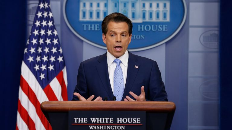 Anthony Scaramucci was sacked after 11 days in the White House