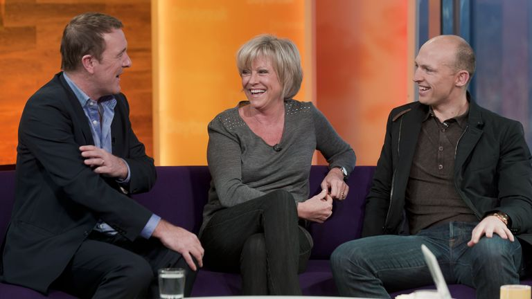 Phil Tufnell, Sue Barker and Matt Dawson