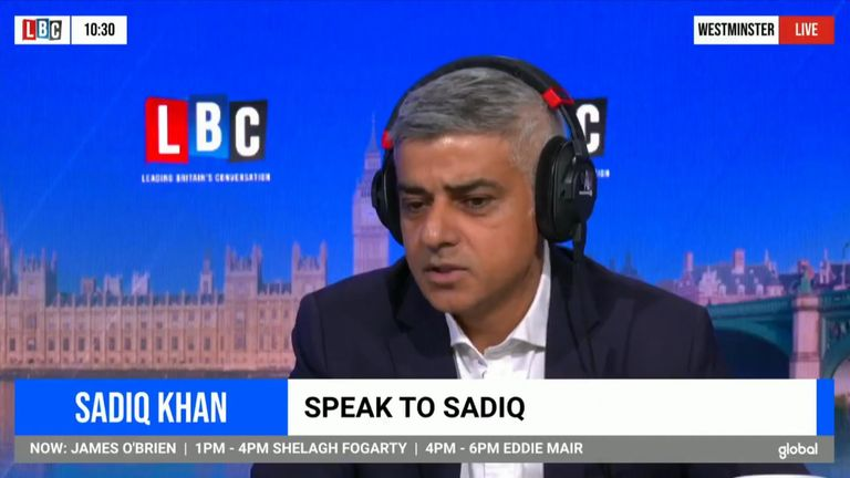London Mayor Sadiq Khan told LBC host James O'Brian that fireworks would be cancelled for New Years Eve, due to coronavirus concerns
