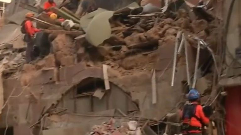 Rescue crews think there may be signs of life under rubble in Beirut