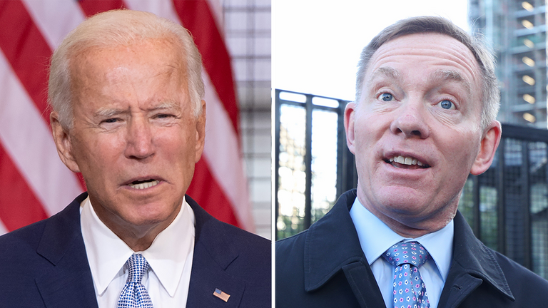 Joe Biden (L) has been nominated for the Nobel Peace Prize by Labour's Chris Bryant