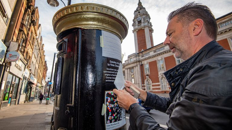 Royal Mail says the postboxes help people mark the success of black Britons