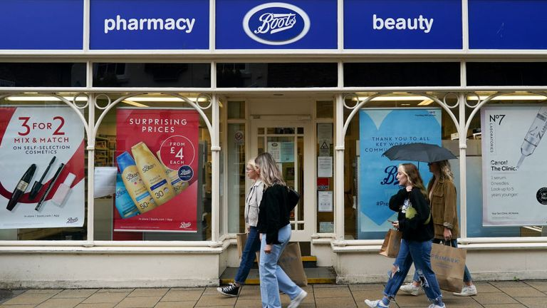 Boots is on many High Streets in England