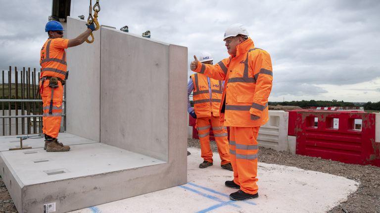 Boris Johnson at HS2 site