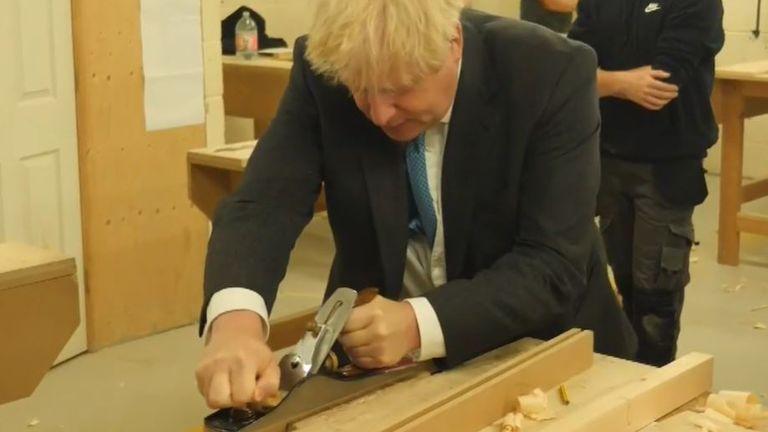 Boris Johnson planes some timber