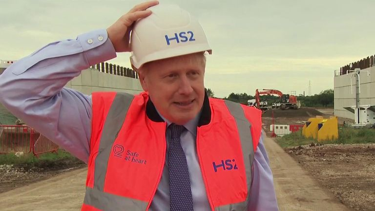 Boris Johnson in Solihull a construction on HS2 begins