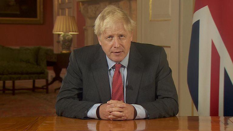 Boris Johnson delivered a TV address