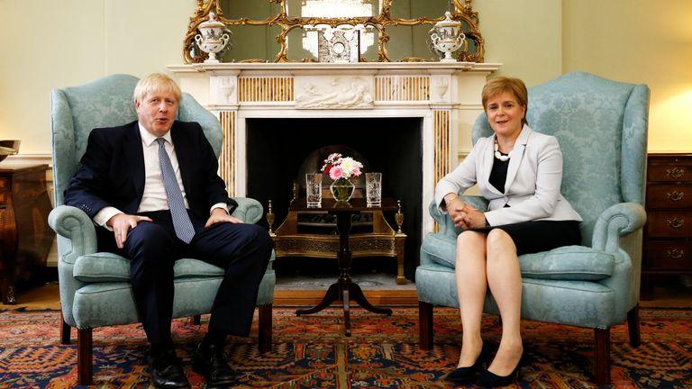 Nicola Sturgeon and Boris Johnson