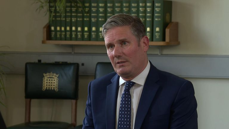 Labour leader Sir Keir Starmer talks with Sky's political editor Beth Rigby about Brexit