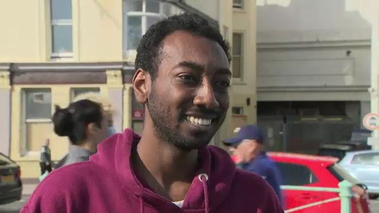 Brighton resident Ahmed told Sky News people are gathering in groups of more than six
