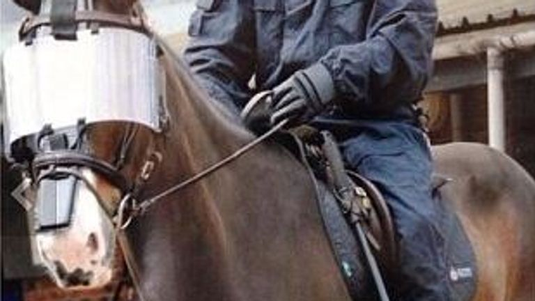 Bud the police horse who has died in retirement